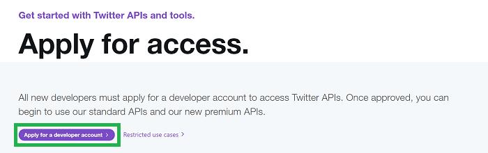 TwitterAPI申請