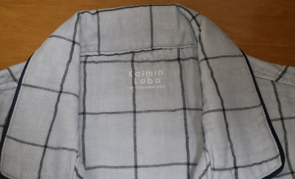 快眠ラボのパジャマの首元