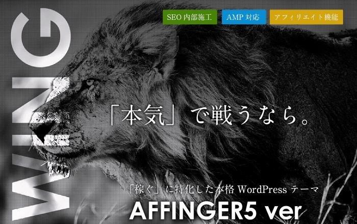 初心者におすすめの有料テーマはAFFINGER6
